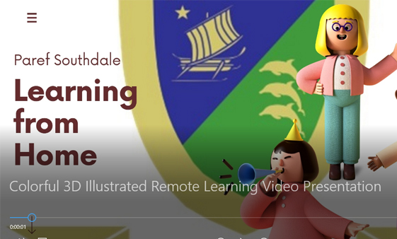 Colorful 3D Illustrated Remote Learning Video Presentation from PAREF Preschool Southdale Cebu